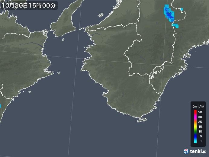 和歌山県の雨雲レーダー(2018年10月20日)