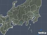 2018年10月21日の関東・甲信地方の雨雲の動き