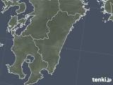 2018年10月21日の宮崎県の雨雲の動き