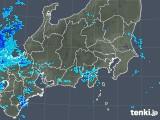 2018年10月23日の関東・甲信地方の雨雲の動き