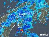 2018年10月23日の四国地方の雨雲の動き