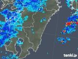 2018年10月23日の宮崎県の雨雲の動き