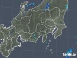 2018年10月24日の関東・甲信地方の雨雲の動き