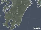 2018年10月24日の宮崎県の雨雲の動き
