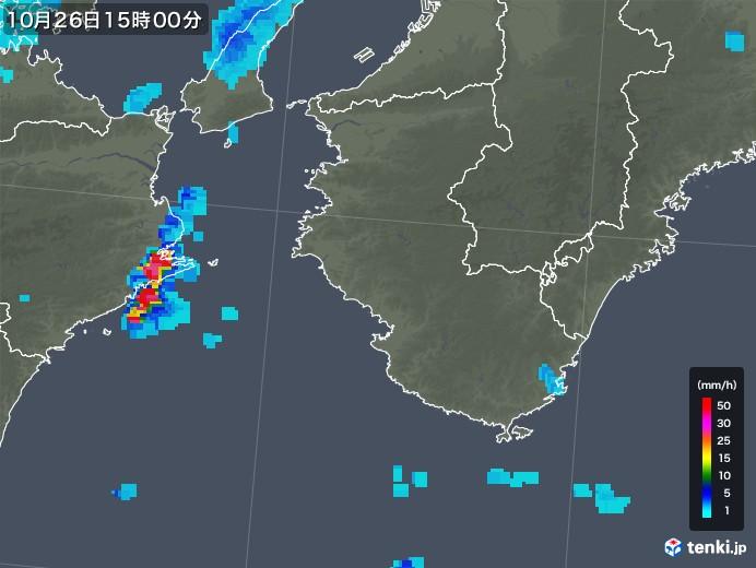 和歌山県の雨雲レーダー(2018年10月26日)