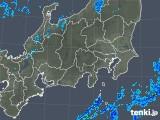 2018年10月27日の関東・甲信地方の雨雲の動き