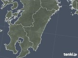 2018年10月28日の宮崎県の雨雲の動き