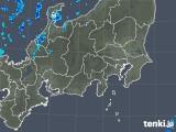 2018年10月29日の関東・甲信地方の雨雲の動き