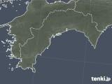 2018年10月29日の高知県の雨雲の動き