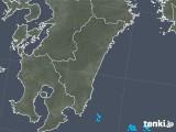 2018年10月31日の宮崎県の雨雲の動き
