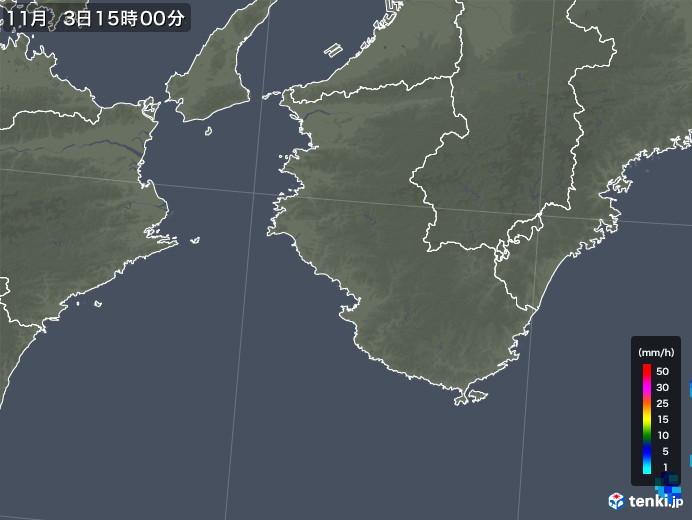 和歌山県の雨雲レーダー(2018年11月03日)
