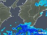 2018年11月13日の和歌山県の雨雲の動き