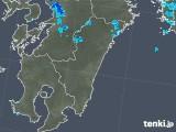 2018年11月18日の宮崎県の雨雲の動き