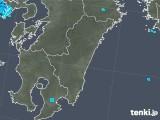 2018年11月21日の宮崎県の雨雲の動き