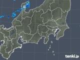 2018年11月25日の関東・甲信地方の雨雲の動き
