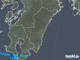 2018年11月25日の宮崎県の雨雲の動き