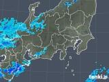 2018年11月28日の関東・甲信地方の雨雲の動き