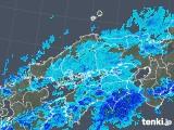 2018年11月28日の中国地方の雨雲の動き