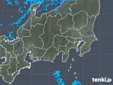2018年12月10日の関東・甲信地方の雨雲の動き