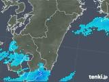 2018年12月10日の宮崎県の雨雲の動き