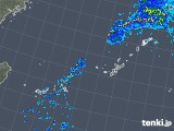 2018年12月11日の沖縄地方の雨雲の動き