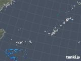 2018年12月14日の沖縄地方の雨雲の動き