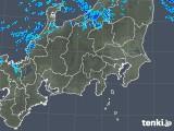 2018年12月14日の関東・甲信地方の雨雲の動き