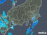 2018年12月16日の関東・甲信地方の雨雲の動き