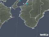 2018年12月18日の和歌山県の雨雲の動き