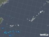 2018年12月22日の沖縄地方の雨雲の動き
