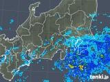 2018年12月22日の関東・甲信地方の雨雲の動き