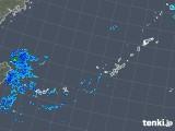 2018年12月23日の沖縄地方の雨雲の動き