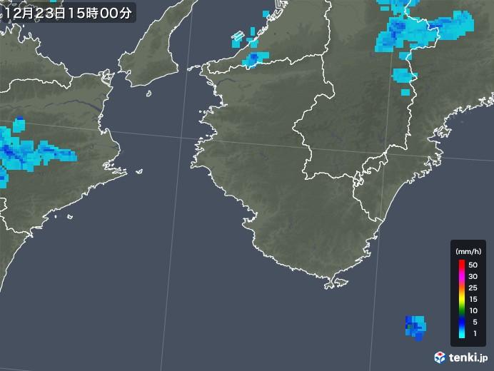 和歌山県の雨雲の動き(2018年12月23日)