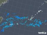 2018年12月25日の沖縄地方の雨雲の動き