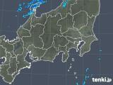 2018年12月25日の関東・甲信地方の雨雲の動き