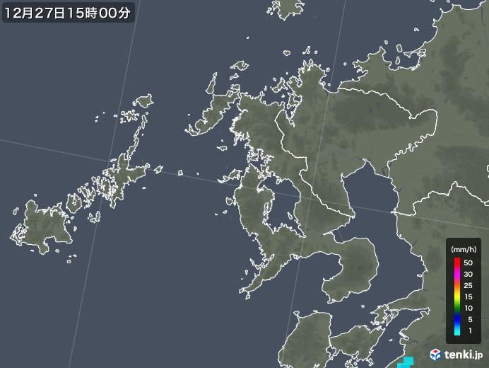 長崎県の雨雲の動き(2018年12月27日)