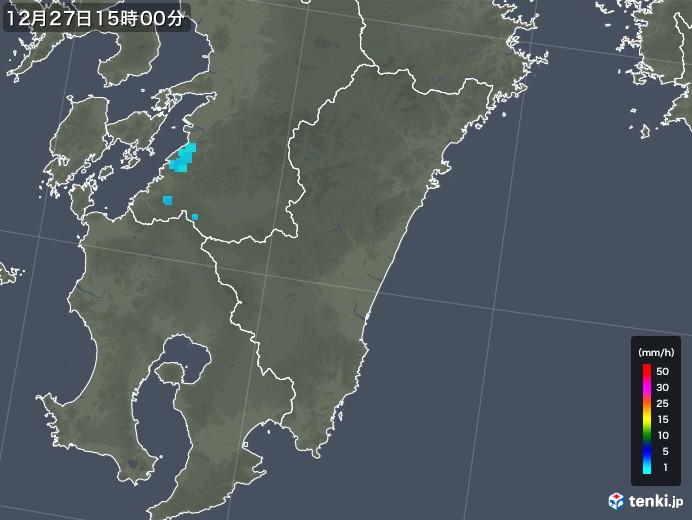 宮崎県の雨雲の動き(2018年12月27日)
