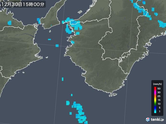 和歌山県の雨雲の動き(2018年12月30日)