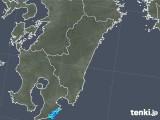 2018年12月31日の宮崎県の雨雲の動き