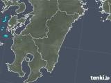 2019年01月01日の宮崎県の雨雲の動き