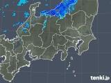 2019年01月05日の関東・甲信地方の雨雲の動き