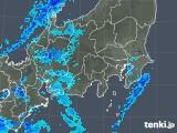 2019年01月15日の関東・甲信地方の雨雲の動き