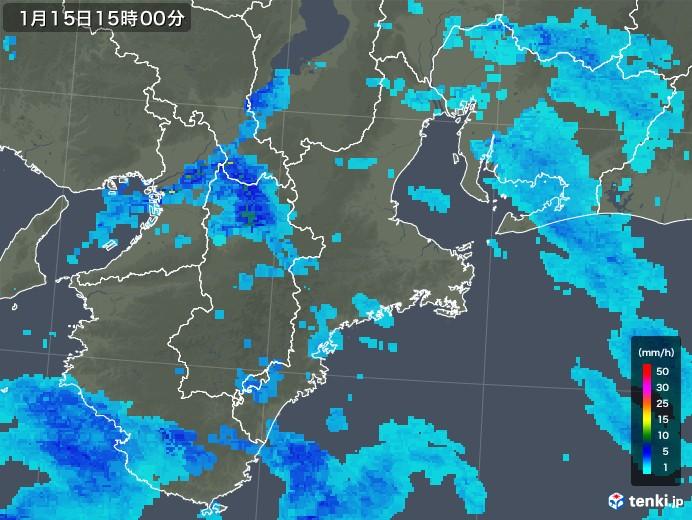雨雲 レーダー 三重 県