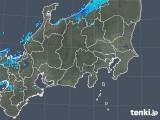 2019年01月16日の関東・甲信地方の雨雲の動き