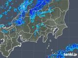 2019年01月20日の関東・甲信地方の雨雲の動き