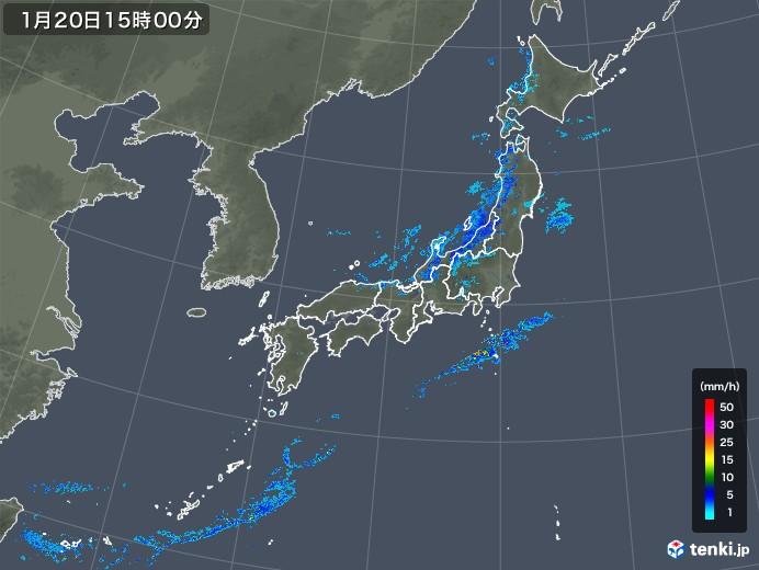 雨雲レーダー(2019年01月20日)