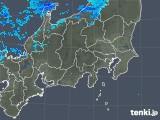 2019年01月21日の関東・甲信地方の雨雲の動き