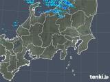 2019年01月22日の関東・甲信地方の雨雲の動き