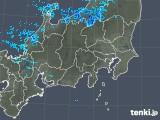 2019年01月24日の関東・甲信地方の雨雲の動き