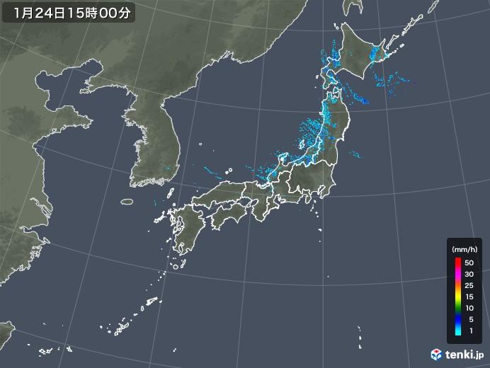 雨雲レーダー(2019年01月24日)